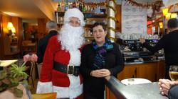 Père Noël dans la Brasserie le Reinitas 18 rue du Poteau