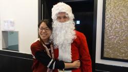 Père Noël chez Haifa traiteur asiatique 5 rue du Poteau