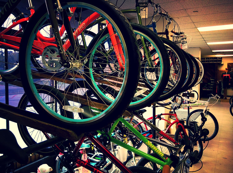 Rack of Bikes