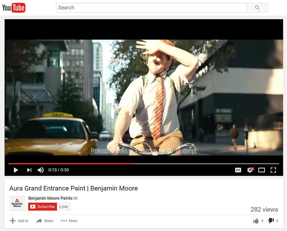 Benjamin Moore TV/YouTube Ad