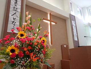 母の日、女性集会のお花