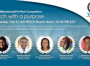 Announcing YEPI Entrepreneurship Summit 2019 Pitch Contestants.