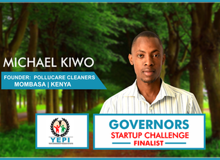Meet YEPI Entrepreneur, Michael Kiwo of Pollucare Cleaners.