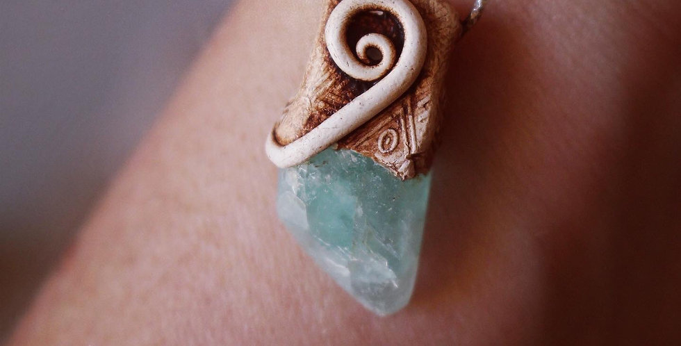 Cornish Fluorite with Sterling Silver