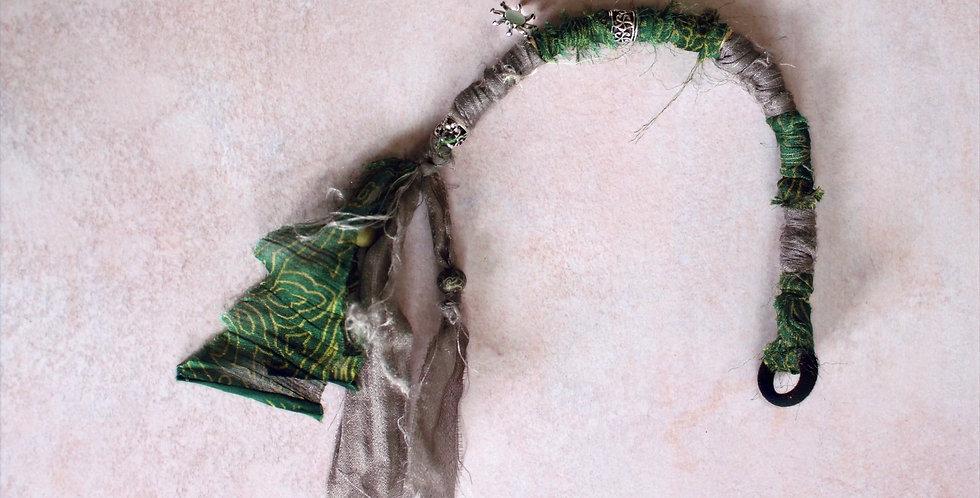 Recycled Sari Hairwrap- Short/Med, Greens