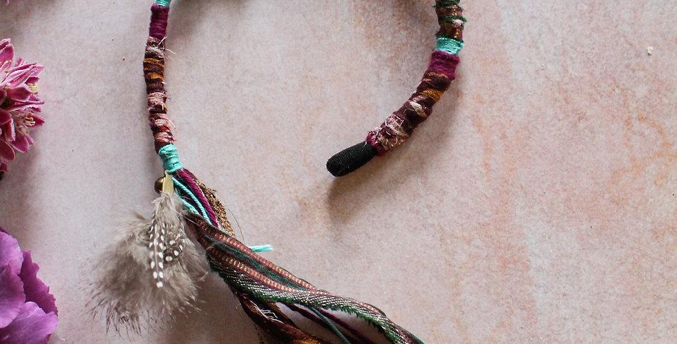 Recycled Sari and Cotton Wrap