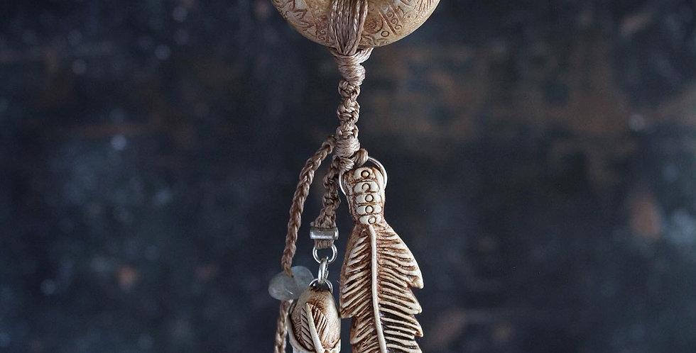 Charm necklace with Cornish Quartz and Labradorite