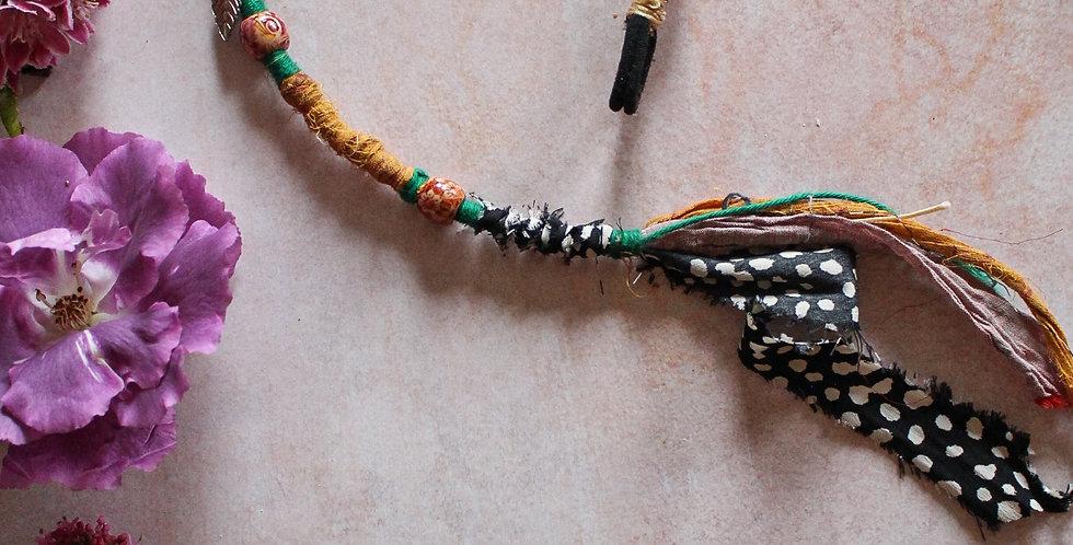 Recycled Sari and Cotton Wrap, X long