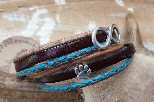 Leder - Wickelarmband