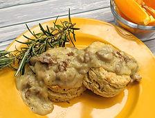 Rosemary Biscuits & Vegan Sausage Gravy.