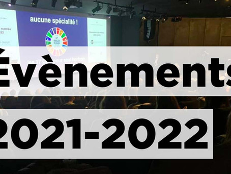 CY école de design : nos événements 2021-2022