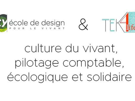 Nouveaux parcours de formation associant CY école de design et TEK4life !