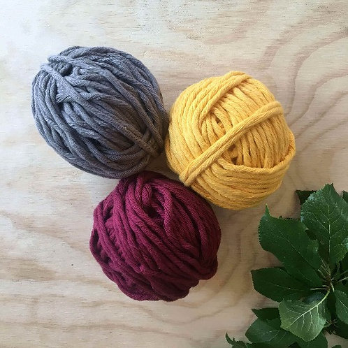 Coloured Cotton String - Autumn Set