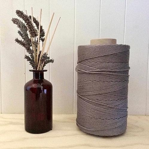 3mm Single Twist Grey 100% Cotton String