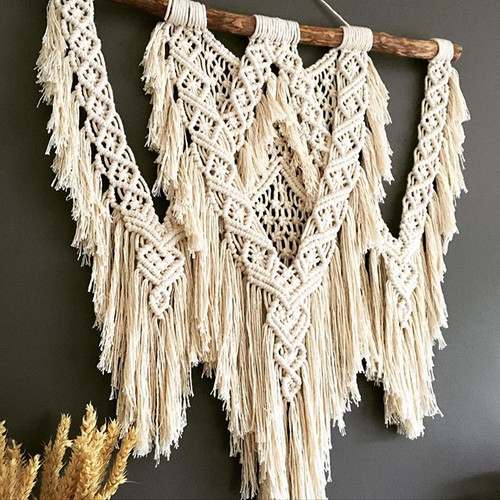 birthday macrame wall hanger