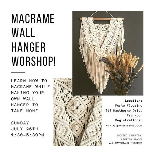 Macrame Wall Hanger Workshop