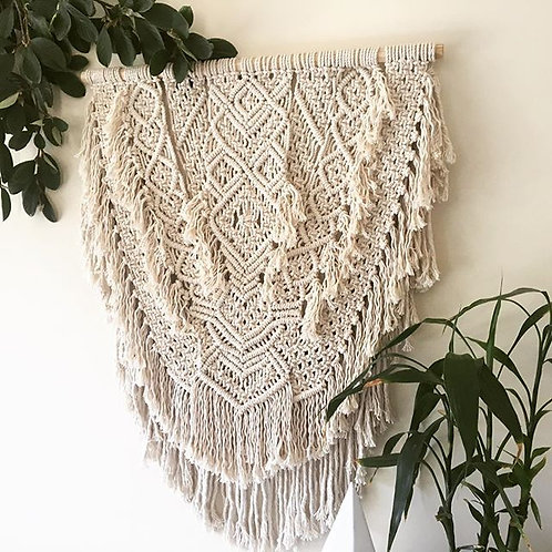 Diamond Macrame Wall Hanger