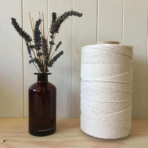 3mm 4ply Twisted 100% Natural Cotton Rope