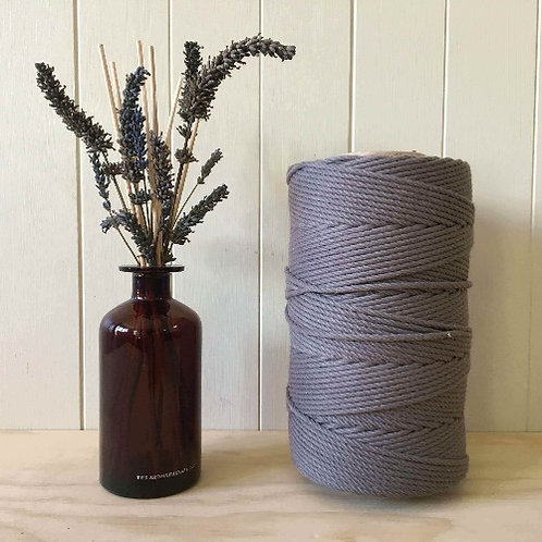 4mm 4ply Twisted Grey 100% Cotton Rope