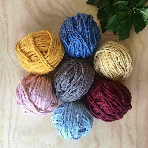 Coloured Cotton String - Rainbow Set