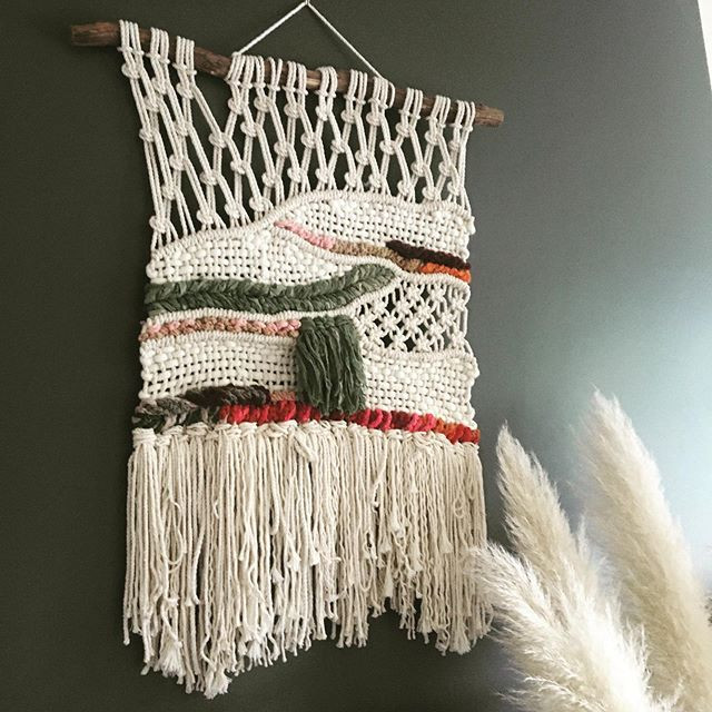 macrame weave wall hanger