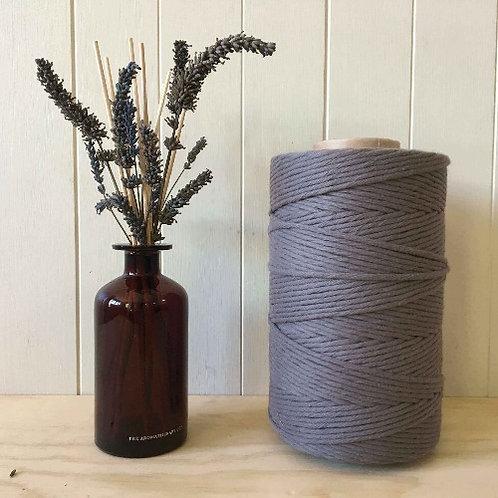 4mm Single Twist Grey 100% Cotton String