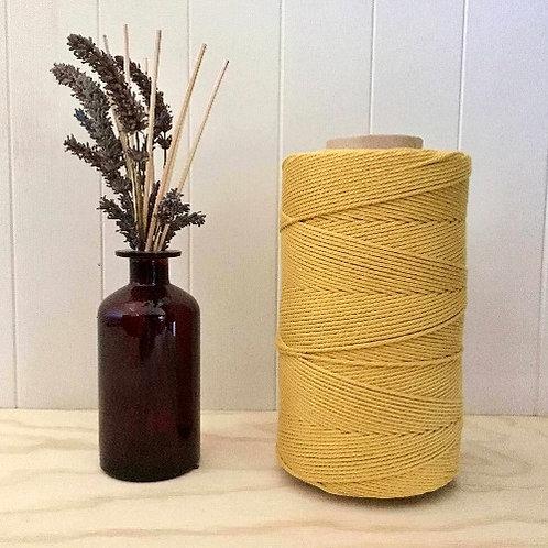 3mm Single Twist Gold 100% Cotton String
