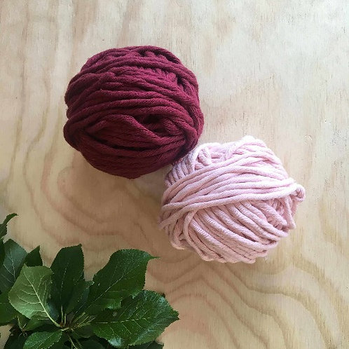 Coloured Cotton String - Flower Set