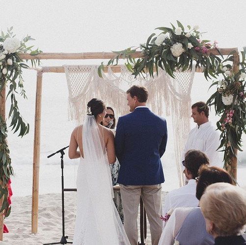 macrame wedding arch