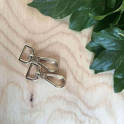 2 Set Key Chains Light Gold