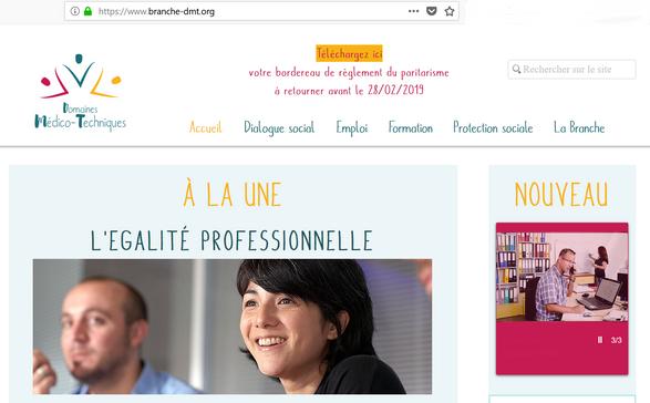 Site Internet des Domaines Médico-Techniques