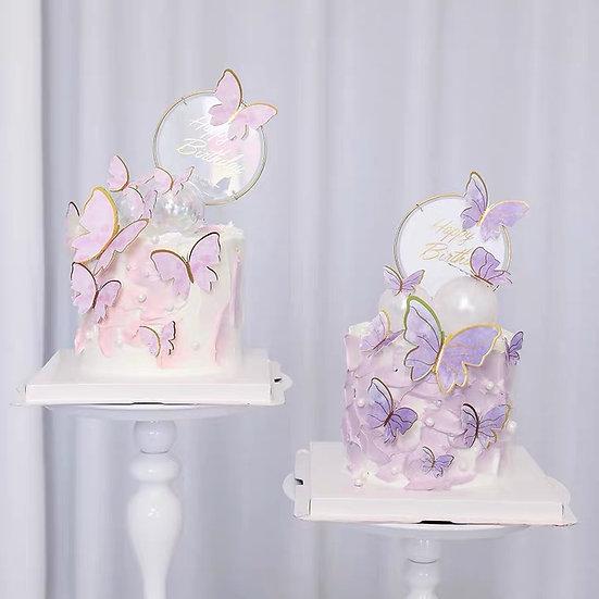 蝴蝶款生日蛋糕