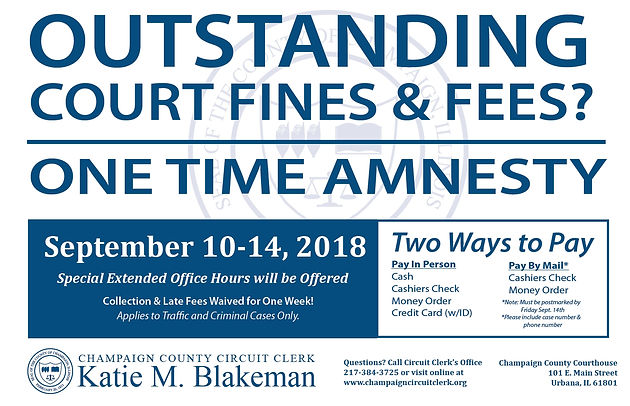 Amnesty week offers way to skip late fees on past-due court fines