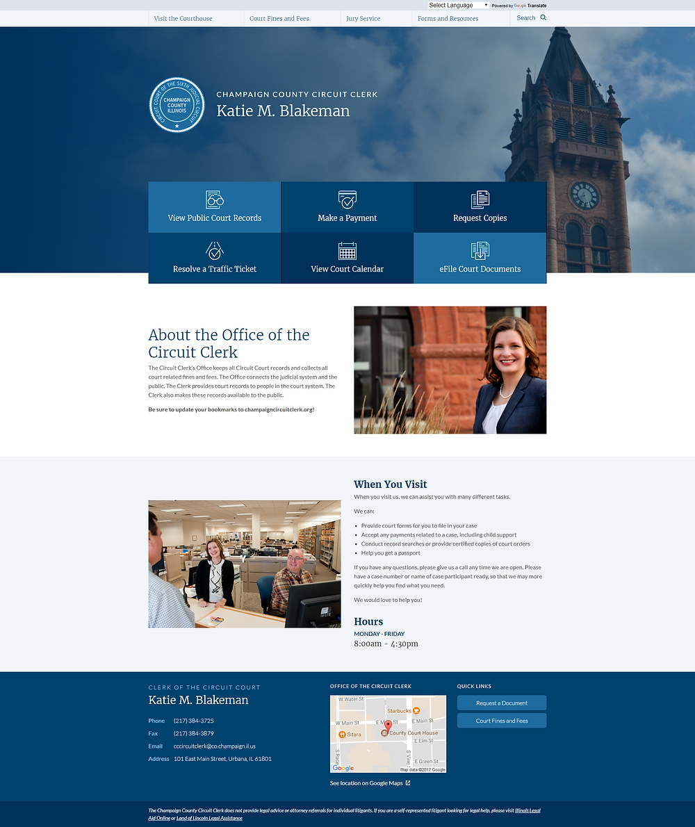 Champaign County Circuit Clerk Homepage