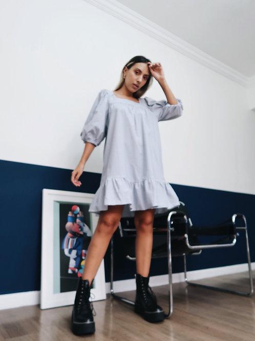 Vestido curto listras