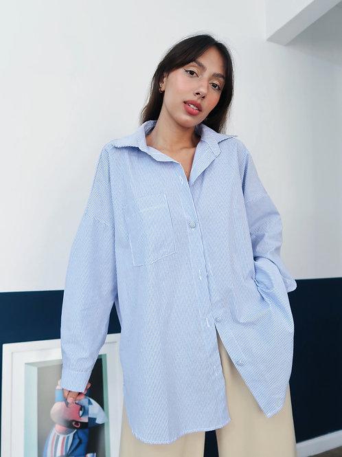 Camisa oversized azul