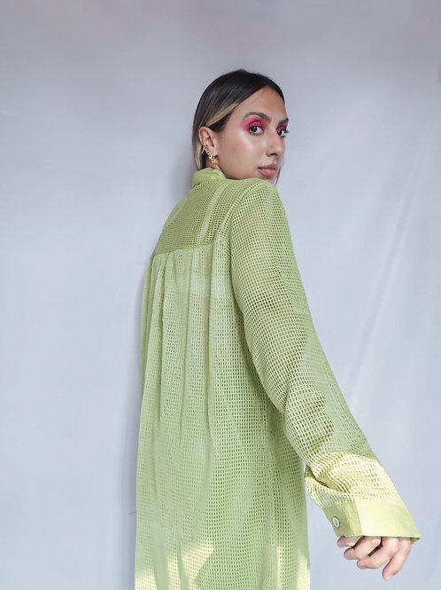 Camisa vazada verde