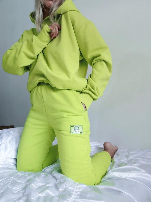 Calça de moletom verde neon