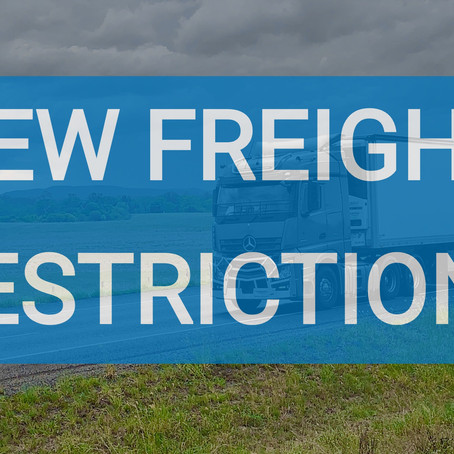 NEW COVID-19 FREIGHT RESTRICTIONS (22 July Update)