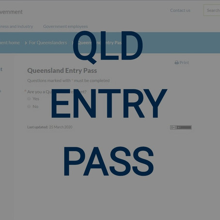 QLD Online Entry Pass Application For All Essential Services