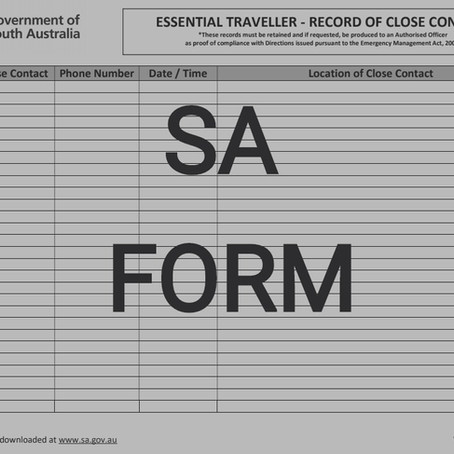 Updated 1 July SA Form - Online Application Required