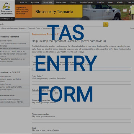 TAS Requires Entry Form Before Arrival