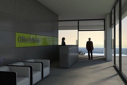 Al Markhiya Office Building Vista Lobby.