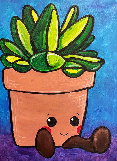 Suc-cute-lent Canvas Painting Kit