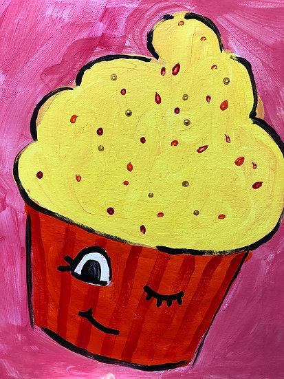 Sprinkles Cupcake Canvas Painting Kit