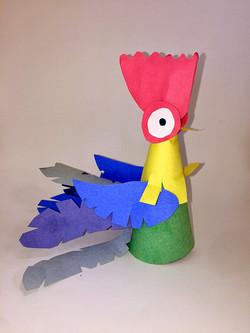 Hei Hei Paper Sculpture