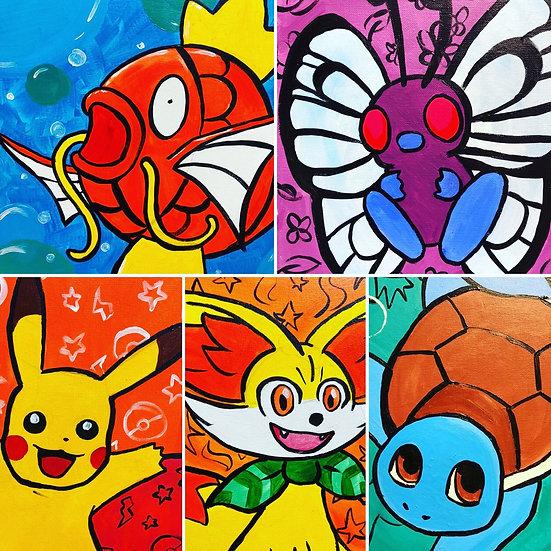 Pokemon Canvas Painting Kit