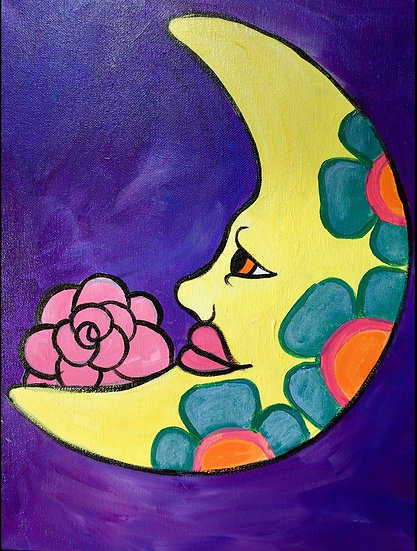 La Luna Canvas Painting Kit