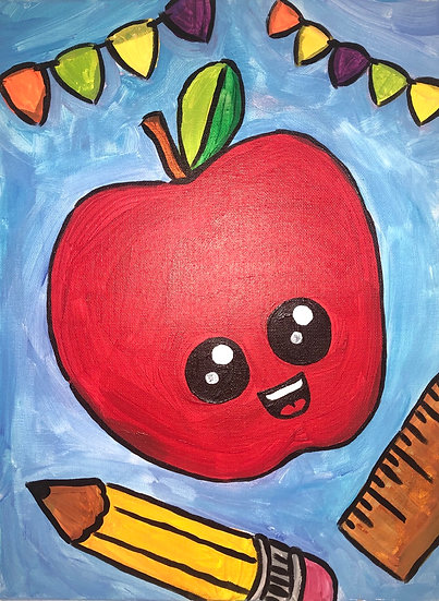Apple A Day Canvas Painting Kit