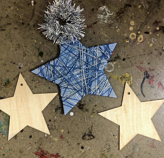 String Art Star Ornament (Small, Set of 2)